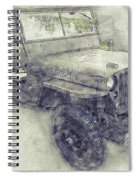 Willys Mb 1 - Ford Gpw - Jeep - Automotive Art - Car Posters Spiral Notebook