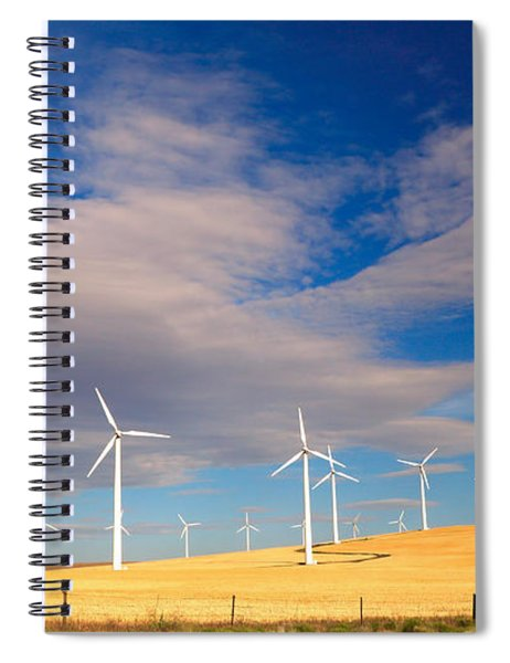Wind Farm Against The Sky Spiral Notebook