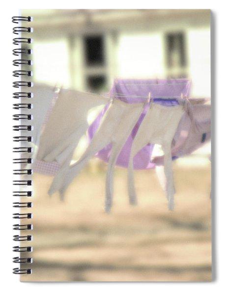 Wind In The Washline Spiral Notebook