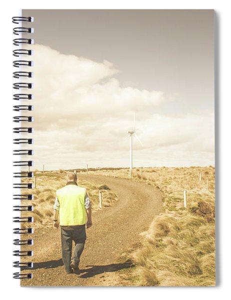 Wind Power Travel Tour Spiral Notebook