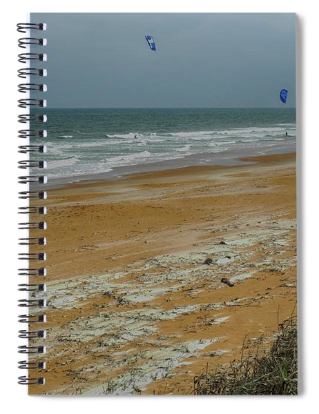 Wind Surfing In Flagler Spiral Notebook