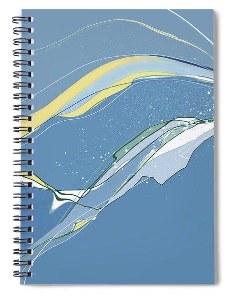 Spiral Notebook featuring the digital art Windblown by Gina Harrison