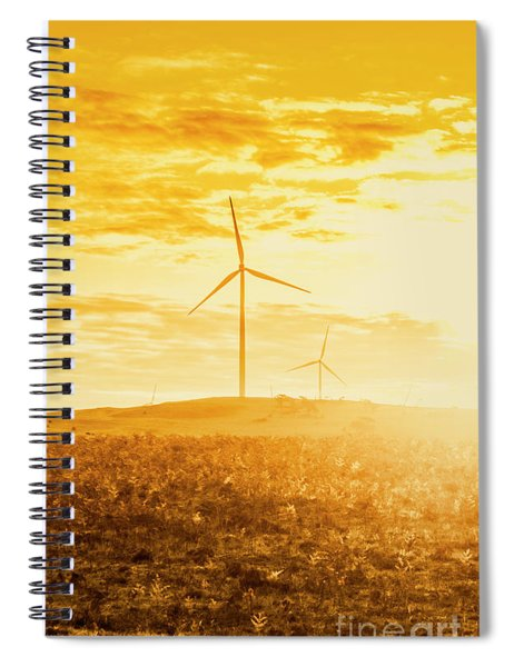 Windfarm Sunset Spiral Notebook