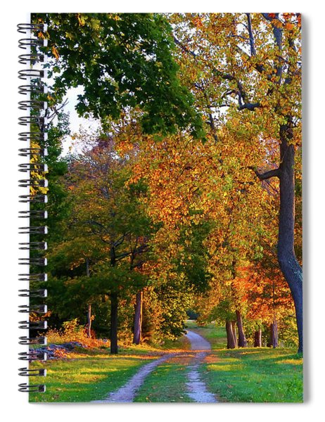 Winding Road In Autumn Spiral Notebook