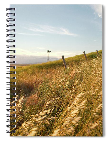 Windmill And The Fence Sundown Spiral Notebook