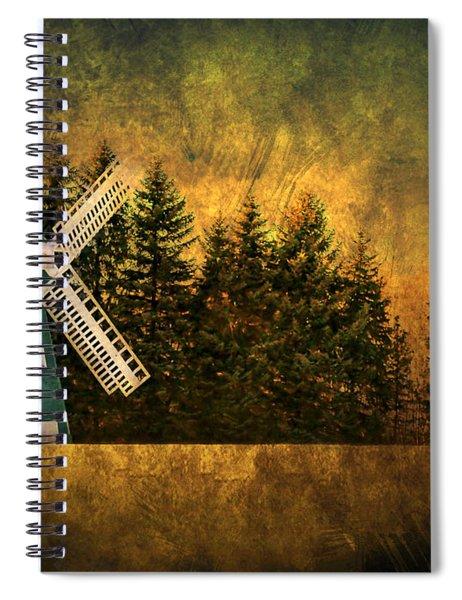 Windmill On My Mind Spiral Notebook