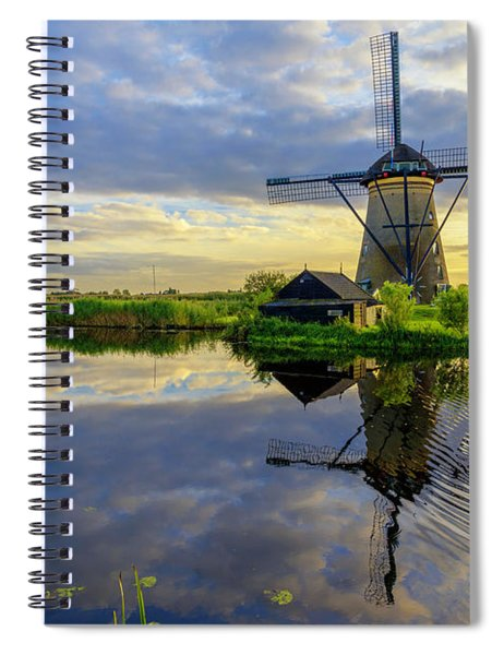 Windmills Spiral Notebook
