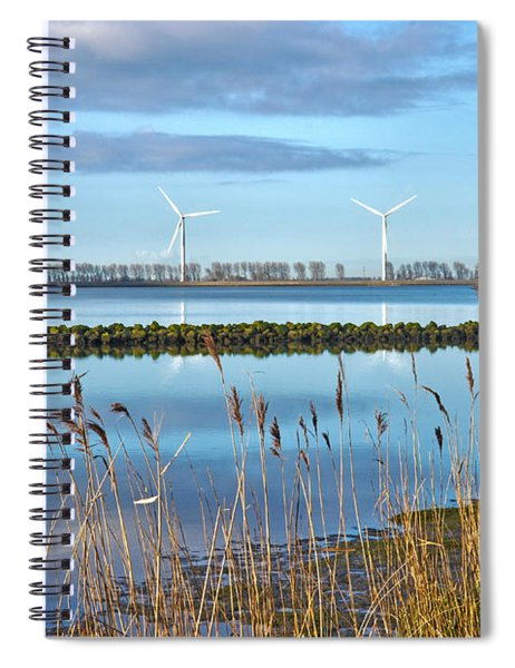 Windmills On A Windless Morning Spiral Notebook