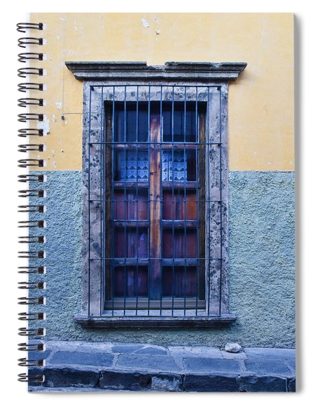 Window And Textured Wall Spiral Notebook