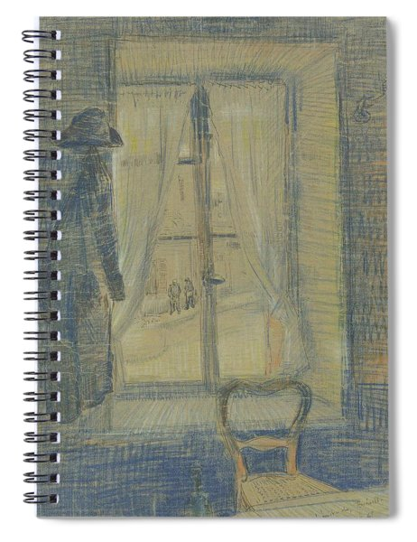 Window In The Bataille Restaurant Paris, February - March 1887 Vincent Van Gogh 1853 - 1890 Spiral Notebook