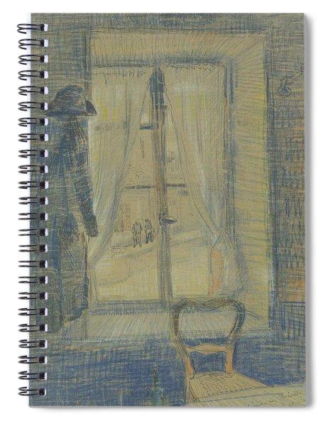 Window In The Bataille Restaurant Paris, February - March 1887 Vincent Van Gogh 1853 - 1890 Spiral Notebook