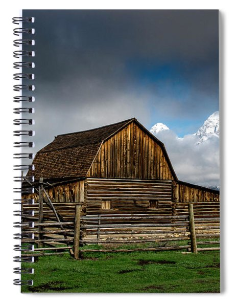 Spiral Notebook featuring the photograph Window In The Storm by Scott Read