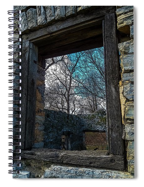 Window Into The Past - Bare's Mill Spiral Notebook