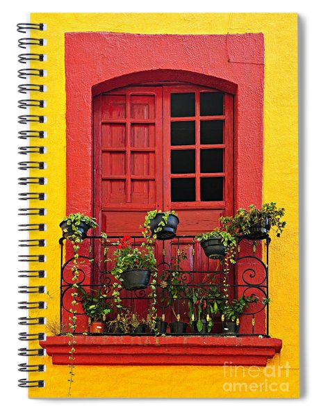 Window On Mexican House Spiral Notebook