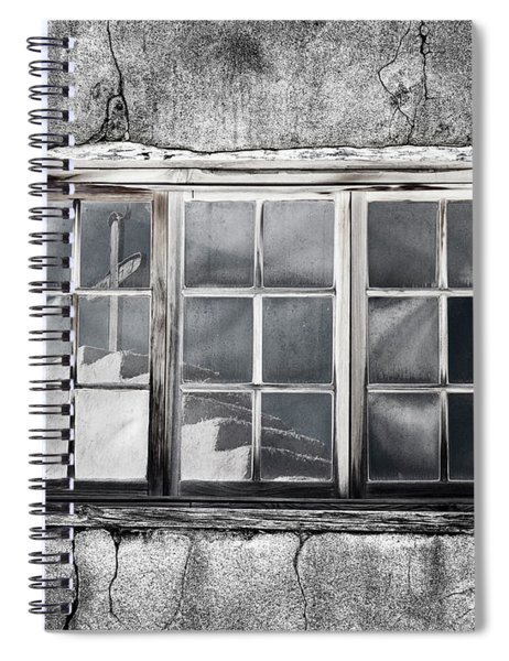 Window Reflection New Mexico Spiral Notebook