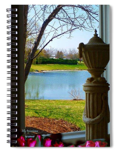 Window View Pond Spiral Notebook