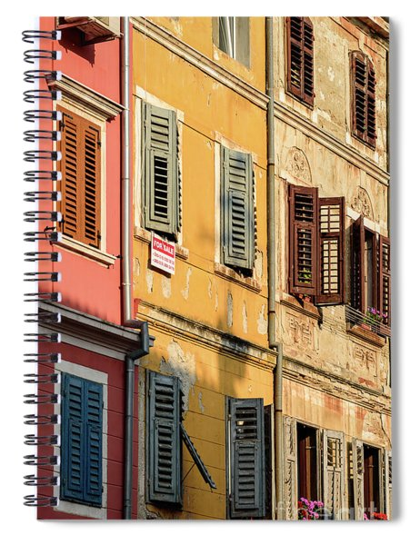 Windows Of Rovinj, Istria, Croatia Spiral Notebook