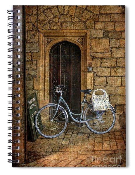 Windsor Castle Bicycle Spiral Notebook