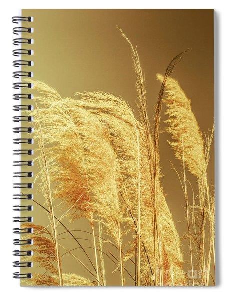 Windswept Autumn Brush Grass Spiral Notebook
