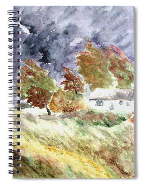 Windswept Landscape Spiral Notebook