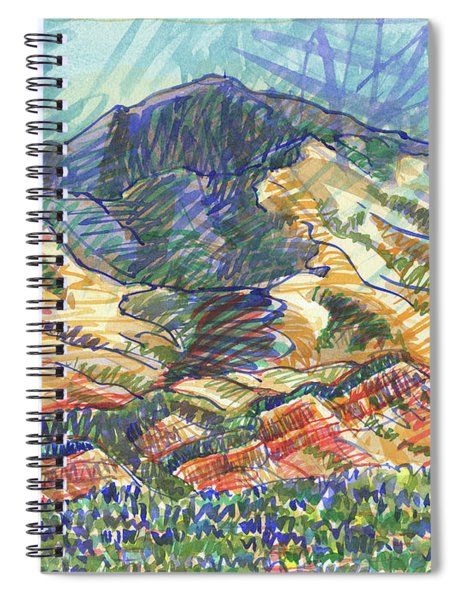 Windy Day, Mount Diablo Spiral Notebook