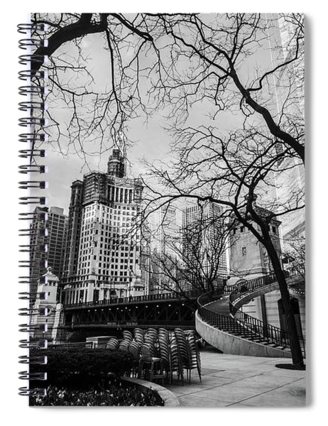 Windy Mornings In The Chi  Spiral Notebook