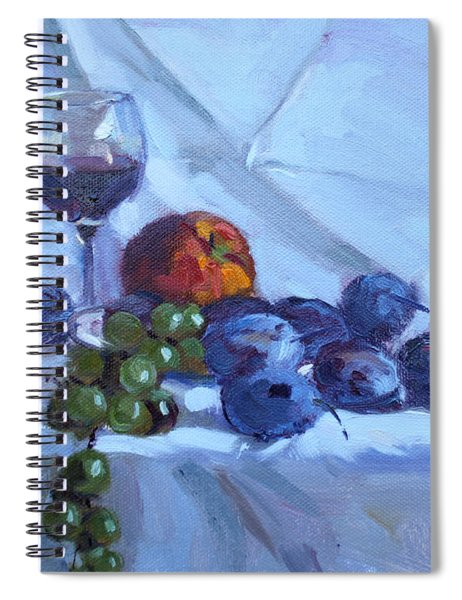 Wine And Fresh Fruits Spiral Notebook