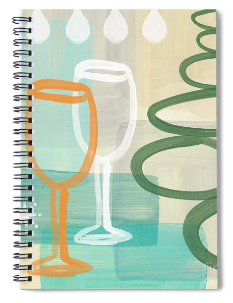 Wine For Two Spiral Notebook