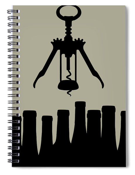 Wine Graphic Silhouette Spiral Notebook