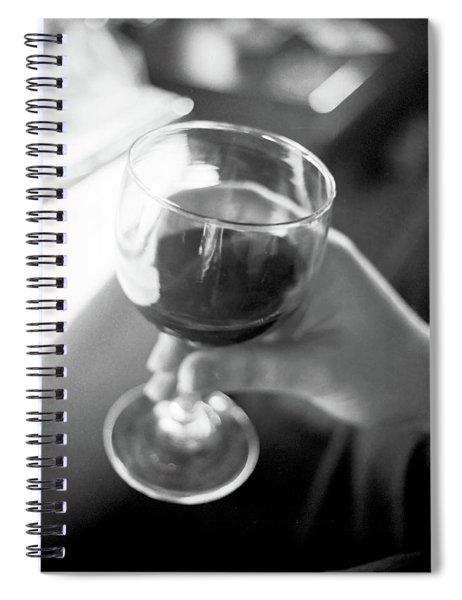 Wine In Hand Spiral Notebook