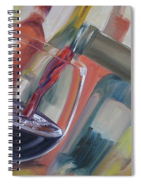 Wine Pour Spiral Notebook