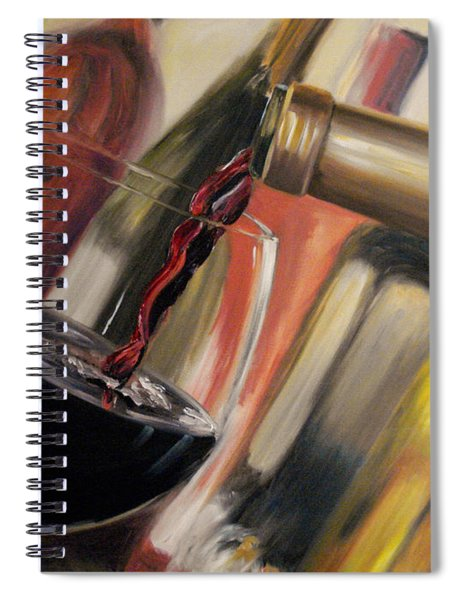 Wine Pour II Spiral Notebook