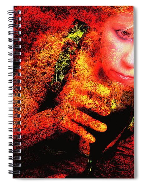 Wine Woman And Fall Colors Spiral Notebook