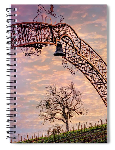 Winery Gate Spiral Notebook