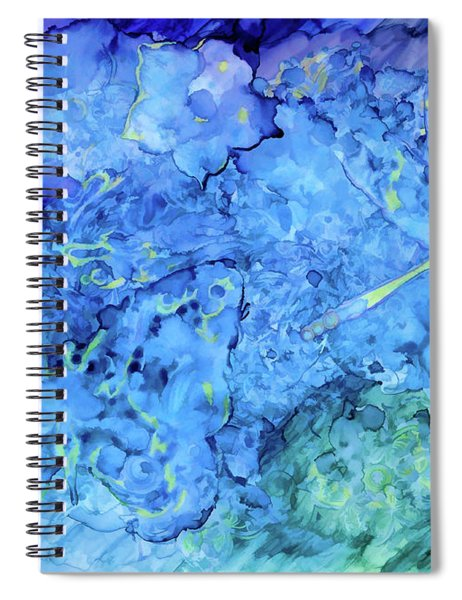 Winged Chaos Under The Moon Spiral Notebook