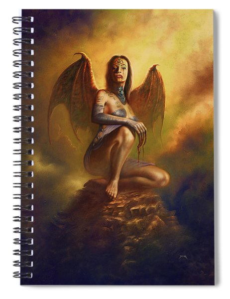 Winged Vamp Spiral Notebook