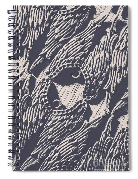Wings Of Classical Artform Spiral Notebook