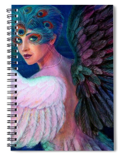 Wings Of Duality Spiral Notebook