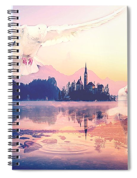 Wings Of Grace Spiral Notebook