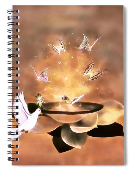 Wings Of Magic Spiral Notebook