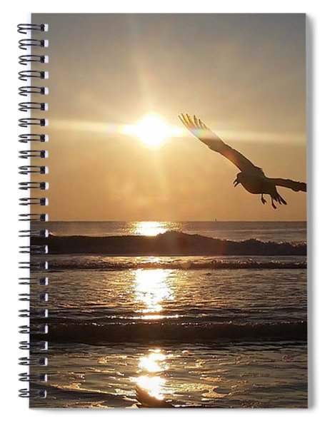 Wings Of Sunrise Spiral Notebook