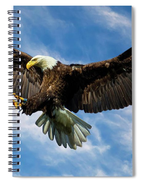 Wings Outstretched Spiral Notebook