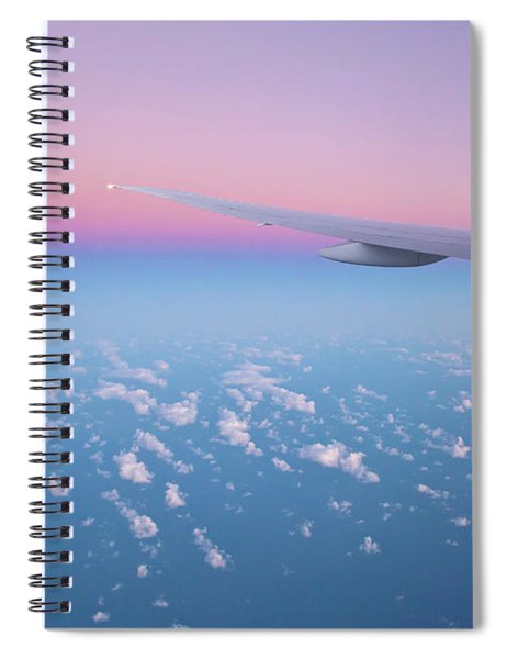 Wings Over The Ocean Spiral Notebook