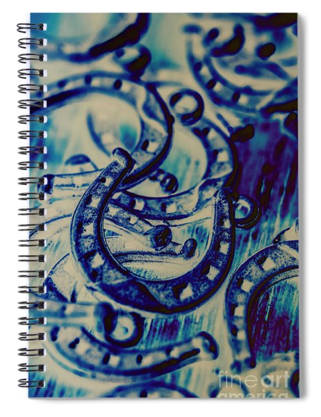 Winning Blue Country Tokens Spiral Notebook