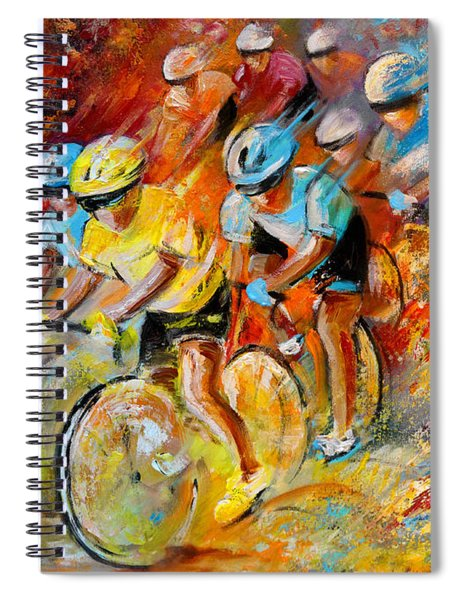 Winning The Tour De France Spiral Notebook