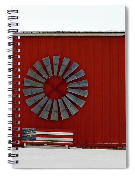Winter Americana Spiral Notebook