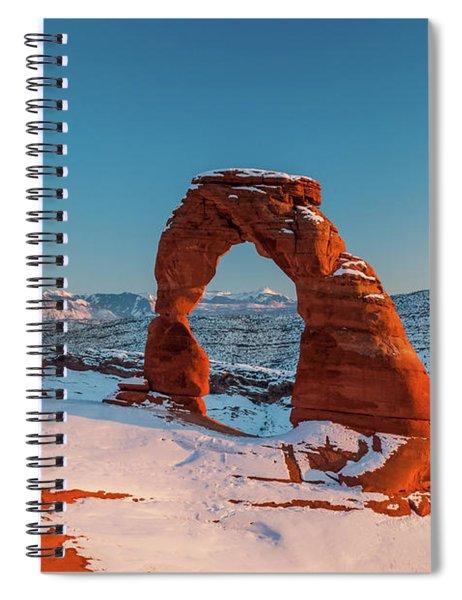 Winter Arch Spiral Notebook