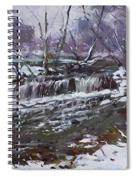 Winter At Goat Island Spiral Notebook