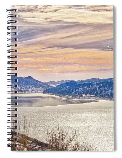 Winter At Horsetooth Reservior Spiral Notebook