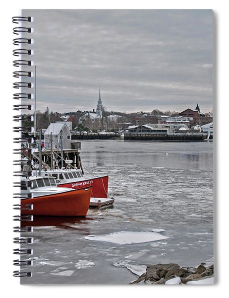 Winter At Newburyport Harbor Spiral Notebook